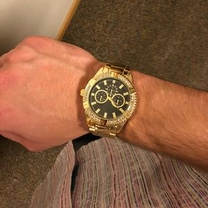 Iced Out Gold Watch Stainless Steel/Heavy Duty